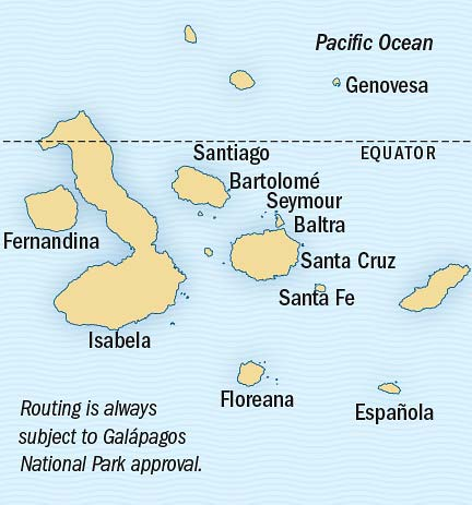 Map - Epic Galápagos Photo Expedition